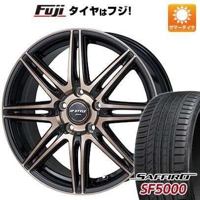 タイヤはフジ 送料無料 MONZA モンツァ JPスタイルジェリバ 6.5J 6.50-16 SAFFIRO サフィーロ SF5000(限定) 215/60R16 16インチ サマータイヤ ホイール4本セット