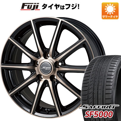 タイヤはフジ 送料無料 MONZA モンツァ Rバージョンスプリント 6J 6.00-15 SAFFIRO サフィーロ SF5000(限定) 205/65R15 15インチ サマータイヤ ホイール4本セット