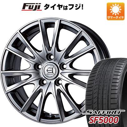 タイヤはフジ 送料無料 TECHNOPIA テクノピア アフロディーテ EF 7.5J 7.50-18 SAFFIRO サフィーロ SF5000(限定) 225/55R18 18インチ サマータイヤ ホイール4本セット