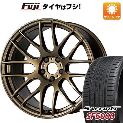 タイヤはフジ 送料無料 WORK ワーク エモーション M8R F:8.50-18 R:9.50-18 SAFFIRO サフィーロ SF5000(限定) F:235/40R18 R:265/35R18 18インチ サマータイヤ ホイール4本セット