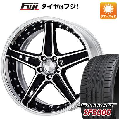 タイヤはフジ 送料無料 WORK ワーク ランベック LS1 F:8.50-20 R:9.50-20 SAFFIRO サフィーロ SF5000(限定) F:245/30R20 R:275/30R20 サマータイヤ ホイール4本セット