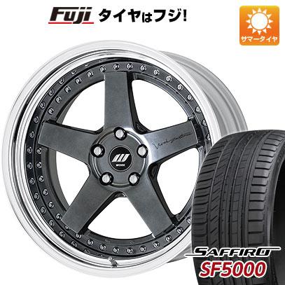 タイヤはフジ 送料無料 WORK ワーク ジスタンス W5S オーバーヘッド 8J 8.00-19 SAFFIRO サフィーロ SF5000(限定) 215/35R19 19インチ サマータイヤ ホイール4本セット