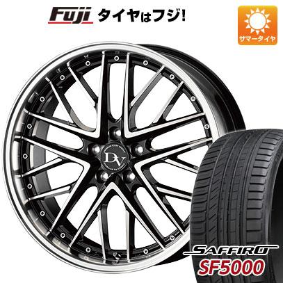 タイヤはフジ 送料無料 COSMIC コスミック ディアヴォレット デェリエ 7.5J 7.50-18 SAFFIRO サフィーロ SF5000(限定) 215/40R18 18インチ サマータイヤ ホイール4本セット
