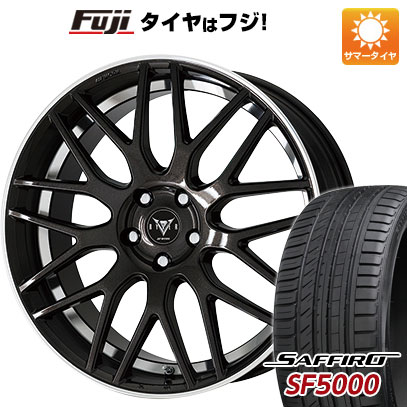 タイヤはフジ 送料無料 WORK ワーク レイバー M009 8J 8.00-18 SAFFIRO サフィーロ SF5000(限定) 235/40R18 18インチ サマータイヤ ホイール4本セット