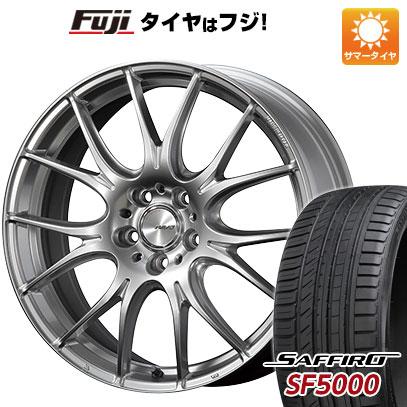 タイヤはフジ 送料無料 RAYS レイズ ホムラ 2X7PLUS 7.5J 7.50-19 SAFFIRO サフィーロ SF5000(限定) 225/35R19 19インチ サマータイヤ ホイール4本セット
