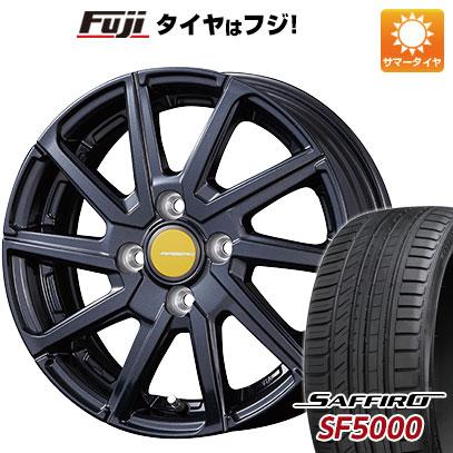 タイヤはフジ 送料無料 KOSEI コーセイ エアベルグ ローレン 5.5J 5.50-14 SAFFIRO サフィーロ SF5000(限定) 175/65R14 14インチ サマータイヤ ホイール4本セット