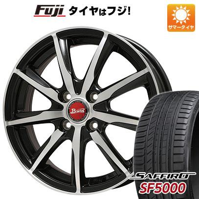 タイヤはフジ 送料無料 BIGWAY ビッグウエイ B-WIN ヴェノーザ9 6.5J 6.50-16 SAFFIRO サフィーロ SF5000(限定) 215/60R16 16インチ サマータイヤ ホイール4本セット