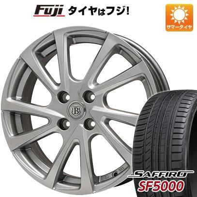 タイヤはフジ 送料無料 BRANDLE ブランドル E04 5.5J 5.50-14 SAFFIRO サフィーロ SF5000(限定) 185/65R14 14インチ サマータイヤ ホイール4本セット