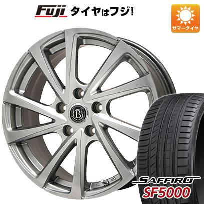 タイヤはフジ 送料無料 BRANDLE ブランドル E04 6J 6.00-15 SAFFIRO サフィーロ SF5000(限定) 195/65R15 15インチ サマータイヤ ホイール4本セット
