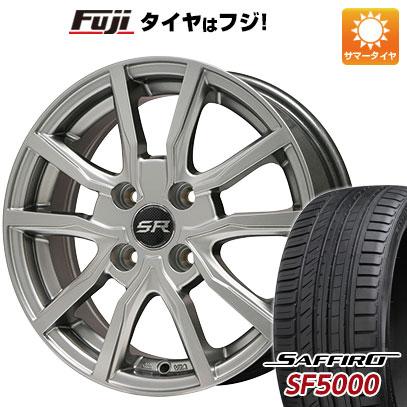 タイヤはフジ 送料無料 BRANDLE ブランドル N52 5.5J 5.50-14 SAFFIRO サフィーロ SF5000(限定) 185/65R14 14インチ サマータイヤ ホイール4本セット