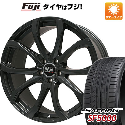 タイヤはフジ 送料無料 MSW by OZ Racing MSW 48(マットブラック) 7.5J 7.50-17 SAFFIRO サフィーロ SF5000(限定) 215/55R17 17インチ サマータイヤ ホイール4本セット