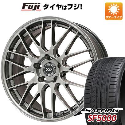 タイヤはフジ 送料無料 ENKEI エンケイ EKM3 7J 7.00-17 SAFFIRO サフィーロ SF5000(限定) 215/45R17 17インチ サマータイヤ ホイール4本セット