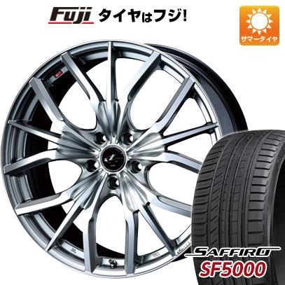 タイヤはフジ 送料無料 WEDS ウェッズ レオニス LV 7J 7.00-17 SAFFIRO サフィーロ SF5000(限定) 215/45R17 17インチ サマータイヤ ホイール4本セット