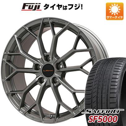 タイヤはフジ 送料無料 LEHRMEISTER レアマイスター LMスポーツLM-55M (マットガンメタ) 7.5J 7.50-18 SAFFIRO サフィーロ SF5000(限定) 225/45R18 18インチ サマータイヤ ホイール4本セット