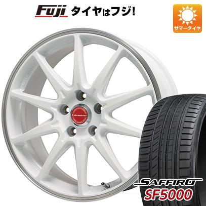 タイヤはフジ 送料無料 LEHRMEISTER レアマイスター LMスポーツRS10(ホワイト/リムポリッシュ) 8.5J 8.50-18 SAFFIRO サフィーロ SF5000(限定) 235/40R18 18インチ サマータイヤ ホイール4本セット