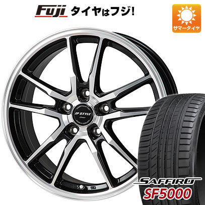 タイヤはフジ 送料無料 MONZA モンツァ JPスタイルクレーヴァー 7J 7.00-17 SAFFIRO サフィーロ SF5000(限定) 215/45R17 17インチ サマータイヤ ホイール4本セット