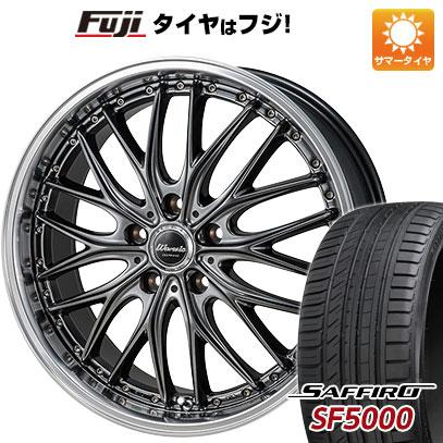 タイヤはフジ 送料無料 MONZA モンツァ ワーウィック ディープランド 7J 7.00-17 SAFFIRO サフィーロ SF5000(限定) 215/60R17 17インチ サマータイヤ ホイール4本セット