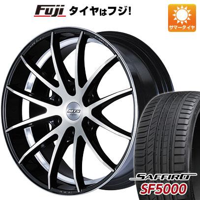タイヤはフジ 送料無料 ハイエース200系 M-TECHNO エムテクノ M.T.S. TA-12HA 8.5J 8.50-20 SAFFIRO サフィーロ SF5000(限定) 225/35R20 20インチ サマータイヤ ホイール4本セット