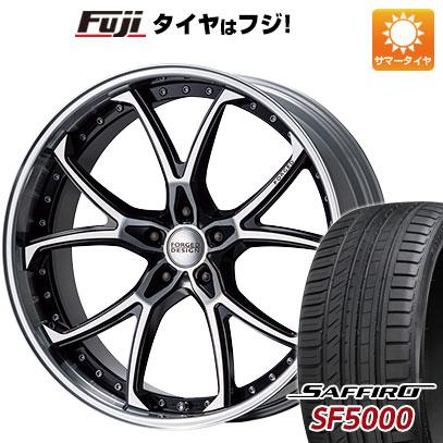 タイヤはフジ 送料無料 MZ SPEED エムズスピード FORGEDデザイン 333 9J 9.00-22 SAFFIRO サフィーロ SF5000(限定) 265/40R22 22インチ サマータイヤ ホイール4本セット