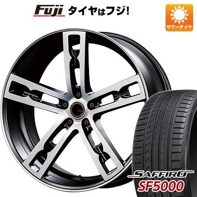 タイヤはフジ 送料無料 MZ SPEED エムズスピード ジュリア 555モノブロック 7.5J 7.50-19 SAFFIRO サフィーロ SF5000(限定) 225/35R19 19インチ サマータイヤ ホイール4本セット