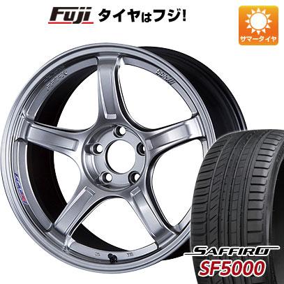 タイヤはフジ 送料無料 SSR GTX03 8J 8.00-18 SAFFIRO サフィーロ SF5000(限定) 235/40R18 18インチ サマータイヤ ホイール4本セット