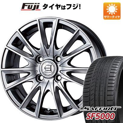 タイヤはフジ 送料無料 TECHNOPIA テクノピア アフロディーテ EF 5.5J 5.50-14 SAFFIRO サフィーロ SF5000(限定) 175/65R14 14インチ サマータイヤ ホイール4本セット