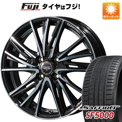 タイヤはフジ 送料無料 TOPY トピー ドルフレン ビゲープ 5.5J 5.50-15 SAFFIRO サフィーロ SF5000(限定) 185/60R15 15インチ サマータイヤ ホイール4本セット