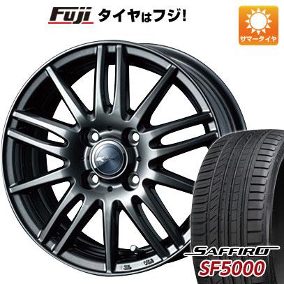 タイヤはフジ 送料無料 WEDS ウェッズ ザミック ティート 5.5J 5.50-14 SAFFIRO サフィーロ SF5000(限定) 185/65R14 14インチ サマータイヤ ホイール4本セット