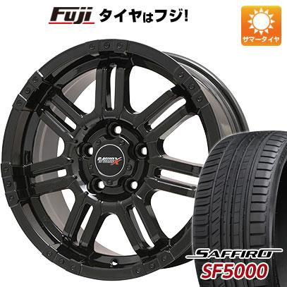 タイヤはフジ 送料無料 BIGWAY ビッグウエイ B-MUD X(グロスブラック) 7J 7.00-17 SAFFIRO サフィーロ SF5000(限定) 215/55R17 17インチ サマータイヤ ホイール4本セット
