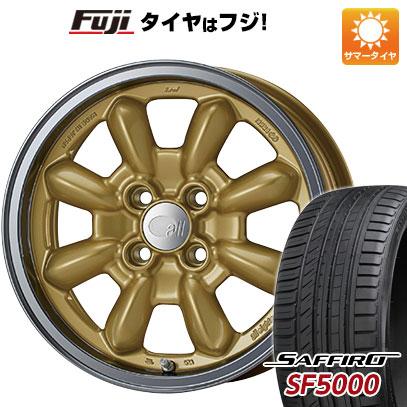 タイヤはフジ 送料無料 ENKEI エンケイ allシリーズ オールエイティーン コンペ 6J 6.00-15 SAFFIRO サフィーロ SF5000(限定) 185/65R15 15インチ サマータイヤ ホイール4本セット