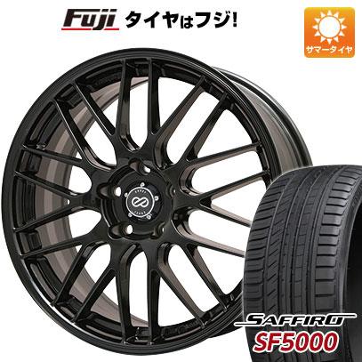 タイヤはフジ 送料無料 ENKEI エンケイ EKM3 7J 7.00-17 SAFFIRO サフィーロ SF5000(限定) 205/45R17 17インチ サマータイヤ ホイール4本セット