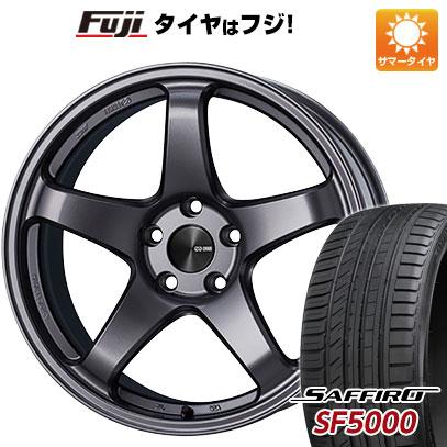 タイヤはフジ 送料無料 ENKEI エンケイ PF05 6J 6.00-15 SAFFIRO サフィーロ SF5000(限定) 185/55R15 15インチ サマータイヤ ホイール4本セット