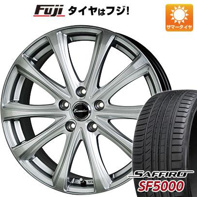 タイヤはフジ 送料無料 HOT STUFF ホットスタッフ エクシーダー E04 7J 7.00-18 SAFFIRO サフィーロ SF5000(限定) 215/45R18 18インチ サマータイヤ ホイール4本セット