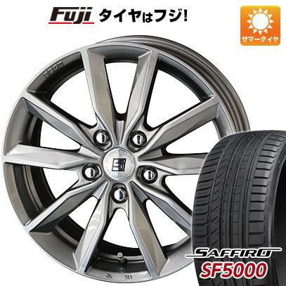 タイヤはフジ 送料無料 KYOHO 共豊 キョウホウ ザインSV 6J 6.00-15 SAFFIRO サフィーロ SF5000(限定) 205/65R15 15インチ サマータイヤ ホイール4本セット