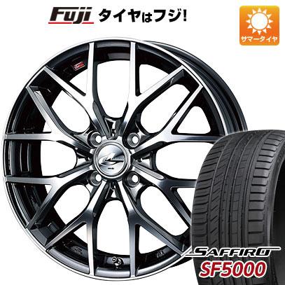 タイヤはフジ 送料無料 WEDS ウェッズ レオニス MX 6J 6.00-16 SAFFIRO サフィーロ SF5000(限定) 195/50R16 16インチ サマータイヤ ホイール4本セット