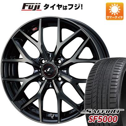 タイヤはフジ 送料無料 WEDS ウェッズ レオニス MX 6J 6.00-16 SAFFIRO サフィーロ SF5000(限定) 195/45R16 16インチ サマータイヤ ホイール4本セット