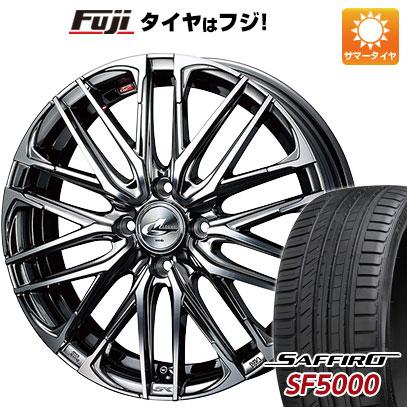 タイヤはフジ 送料無料 WEDS ウェッズ レオニス SK 6J 6.00-16 SAFFIRO サフィーロ SF5000(限定) 195/50R16 16インチ サマータイヤ ホイール4本セット