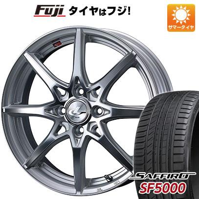 タイヤはフジ 送料無料 WEDS ウェッズ レオニス SV 5.5J 5.50-15 SAFFIRO サフィーロ SF5000(限定) 185/65R15 15インチ サマータイヤ ホイール4本セット