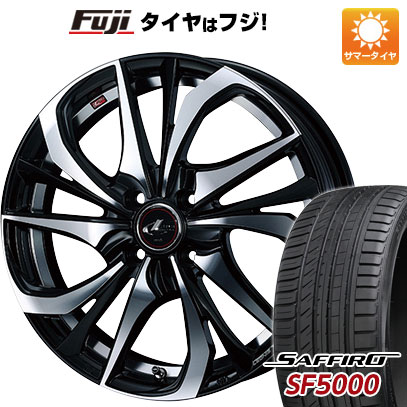 タイヤはフジ 送料無料 WEDS ウェッズ レオニス TE 6J 6.00-16 SAFFIRO サフィーロ SF5000(限定) 195/55R16 16インチ サマータイヤ ホイール4本セット