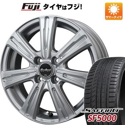 タイヤはフジ 送料無料 MID ユーロスピード C-07 5.5J 5.50-15 SAFFIRO サフィーロ SF5000(限定) 185/55R15 15インチ サマータイヤ ホイール4本セット