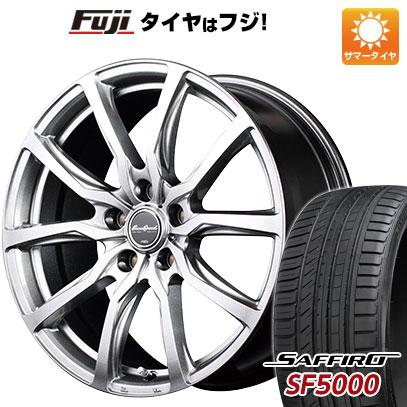 タイヤはフジ 送料無料 MID ユーロスピード G52 8J 8.00-18 SAFFIRO サフィーロ SF5000(限定) 225/55R18 18インチ サマータイヤ ホイール4本セット
