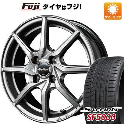 タイヤはフジ 送料無料 MID ユーロスピード G810 5.5J 5.50-15 SAFFIRO サフィーロ SF5000(限定) 185/55R15 15インチ サマータイヤ ホイール4本セット