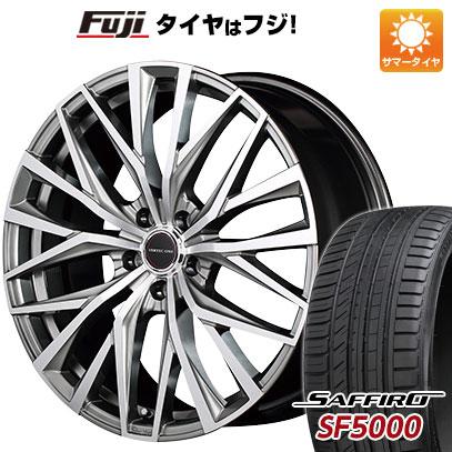 タイヤはフジ 送料無料 MID ヴァーテックワン アルバトロス 7J 7.00-18 SAFFIRO サフィーロ SF5000(限定) 215/40R18 18インチ サマータイヤ ホイール4本セット