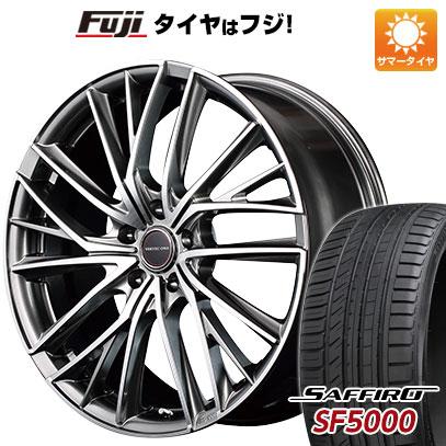 タイヤはフジ 送料無料 MID ヴァーテックワン ヴァルチャー 7J 7.00-18 SAFFIRO サフィーロ SF5000(限定) 215/40R18 18インチ サマータイヤ ホイール4本セット