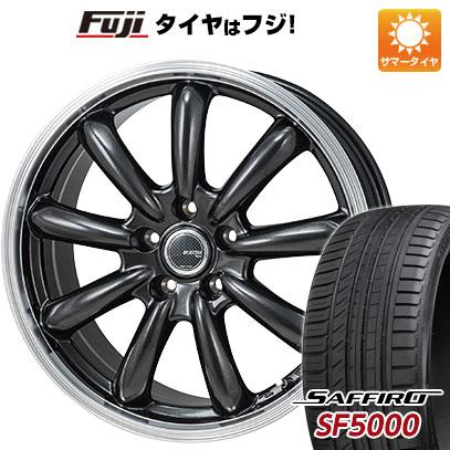 タイヤはフジ 送料無料 MONZA モンツァ JPスタイル バーニー 8J 8.00-18 SAFFIRO サフィーロ SF5000(限定) 235/50R18 18インチ サマータイヤ ホイール4本セット
