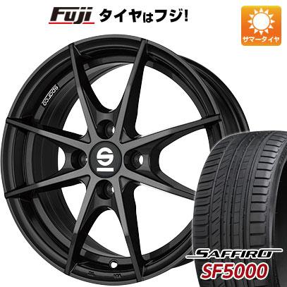 タイヤはフジ 送料無料 OZ SPARCO トロフェオ 6J 6.00-15 SAFFIRO サフィーロ SF5000(限定) 195/55R15 15インチ サマータイヤ ホイール4本セット