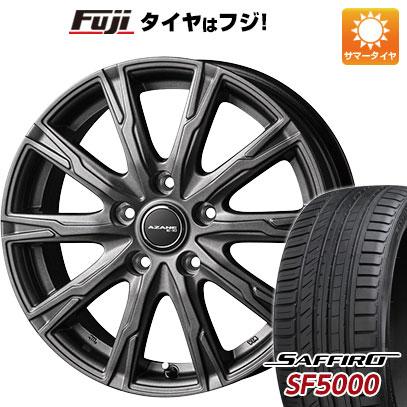 タイヤはフジ 送料無料 TOPY トピー アザーネ E10 6J 6.00-15 SAFFIRO サフィーロ SF5000(限定) 205/65R15 15インチ サマータイヤ ホイール4本セット