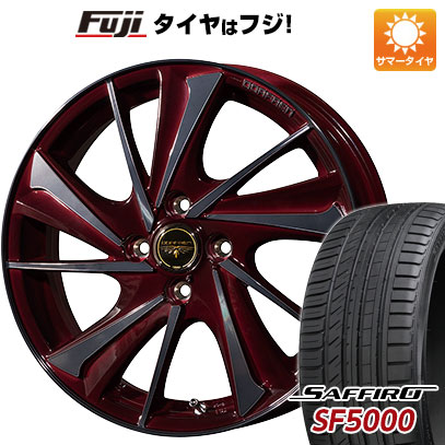 タイヤはフジ 送料無料 TOPY トピー ドルフレン ヴァルネ 6.5J 6.50-17 SAFFIRO サフィーロ SF5000(限定) 205/45R17 17インチ サマータイヤ ホイール4本セット