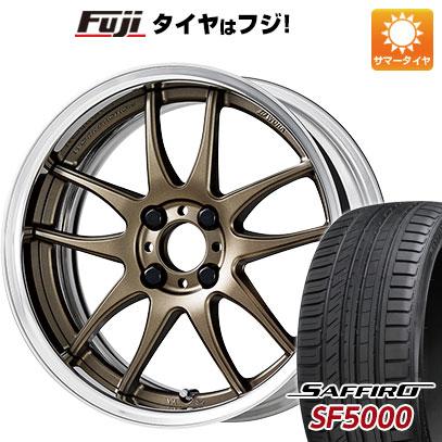 タイヤはフジ 送料無料 WORK ワーク エモーション CR 2P 6J 6.00-16 SAFFIRO サフィーロ SF5000(限定) 195/55R16 16インチ サマータイヤ ホイール4本セット