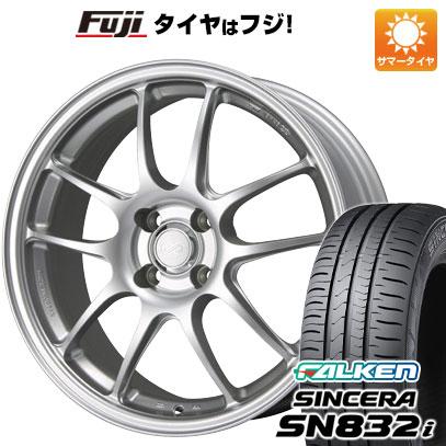 タイヤはフジ 送料無料 ENKEI エンケイ PF01 7J 7.00-16 FALKEN シンセラ SN832i 195/55R16 16インチ サマータイヤ ホイール4本セット